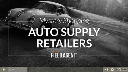 Mystery Shopping Auto Supply Retailers - Video