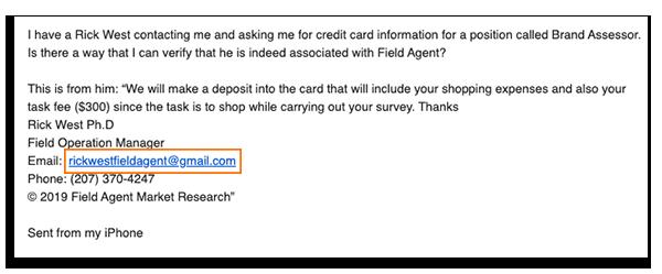 Email address - rickwestfieldagent@gmail.com