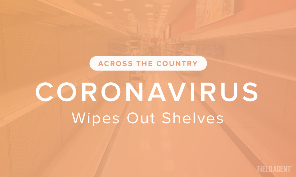 Coronavirus Wipes Out Shelves: Out-of-Stocks Across All 50 States