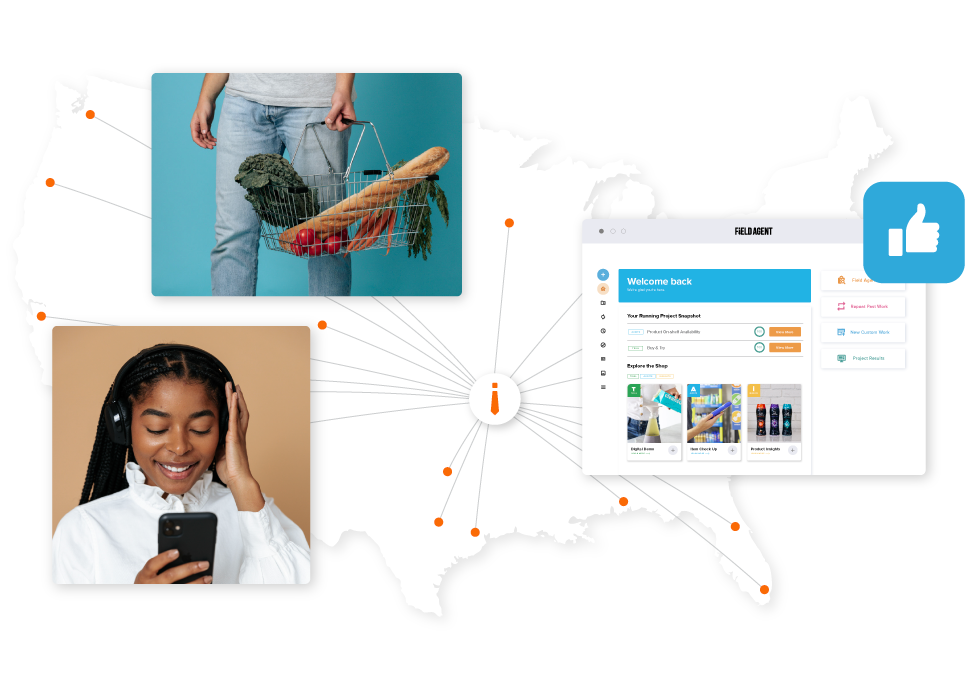 Field Agent - How It Works: connecting shoppers to brands, retailers, agencies, and restaurants
